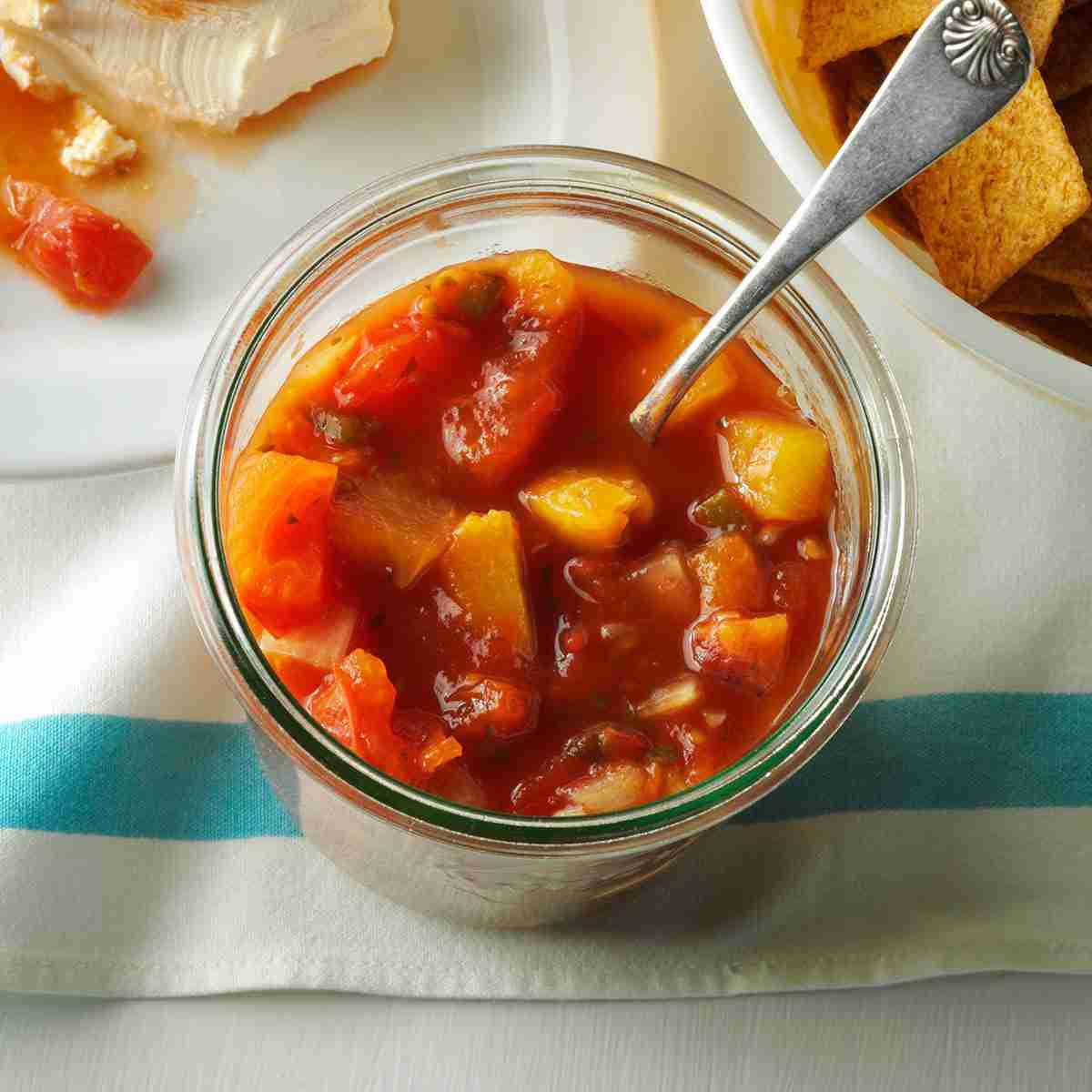 Peach Salsa with Jicama Chips